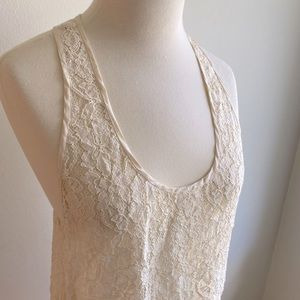 Wilfred Madeline Lace Tank With Silk Trim M